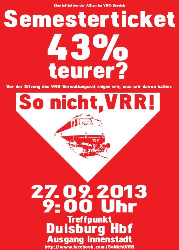 So nicht, VRR! rot