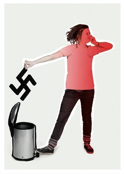 Postkarte gegen Nazis